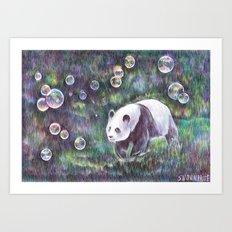 Bubble panda.  Art Print