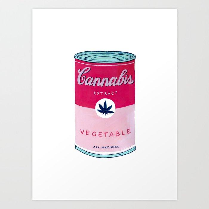 Cannabis Soup Art Print