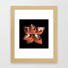 Fractal Christmas Ornaments Framed Art Print