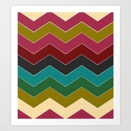 chevon tiles Art Print