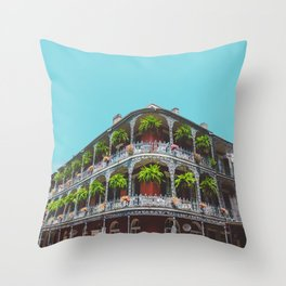 Hanging Baskets of Royal Street, New Orleans Throw Pillow