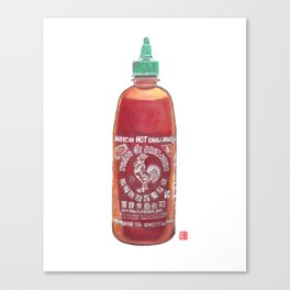 Sriracha Hot Sauce Canvas Print
