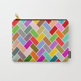 Colourful Tiled Mosaic Pattern Carry-All Pouch