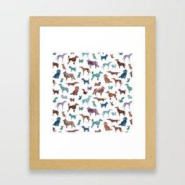 Doggies all over Framed Art Print