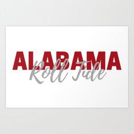 University of Alabama Art Print