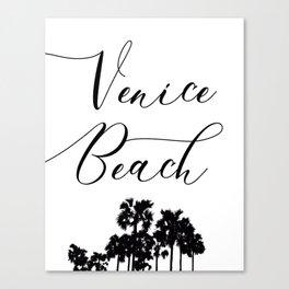 Venice Beach Typograhy Canvas Print