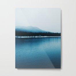 Nature, Landscape, Mountains, Water, Blue, Scandinavian, Minimal, Wall art Art Print Metal Print