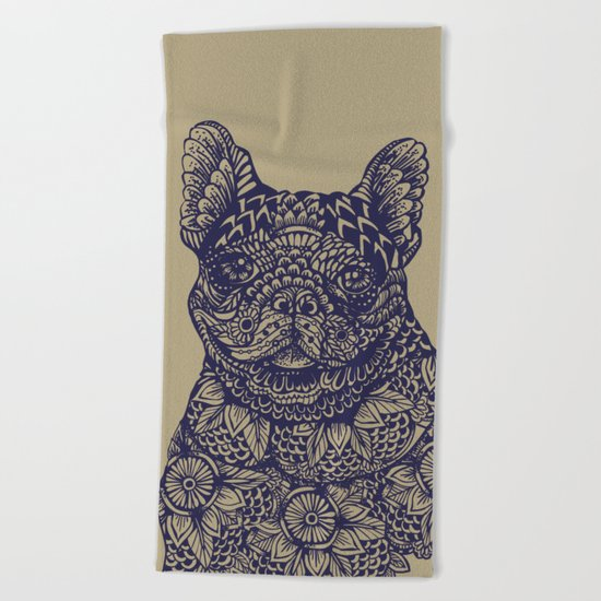 MANDALA OF FRENCHIE Beach Towel