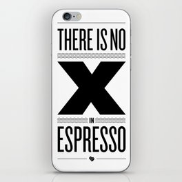 No X in Espresso – Black iPhone Skin