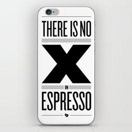 No X in Espresso – Black iPhone Skin