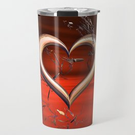 For the Love of Red Travel Mug