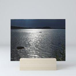 Before Rain - Lakescape by the Night Mini Art Print