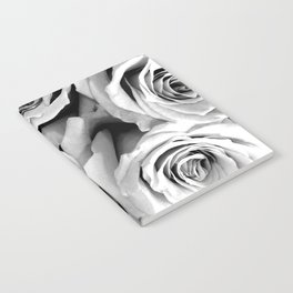 Black and White Roses Notebook