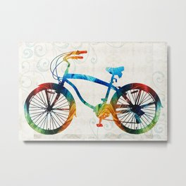 Colorful Bike Art - Free Spirit - By Sharon Cummings Metal Print