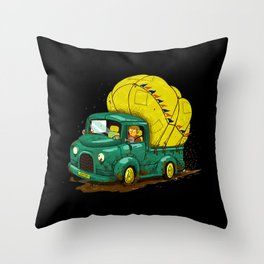 trucks and luggage Throw Pillow