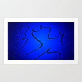 Light Behind Blue Art Print