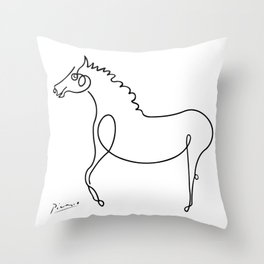 Pablo Picasso, Horse Artwork, Animals Sketch, Prints, Posters, Tshirts, Bags, Men, Women, Kids Throw Pillow