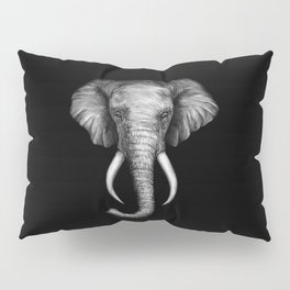 Elephant Head Trophy Pillow Sham