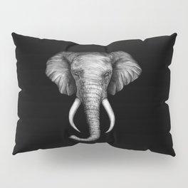 Elephant Head Trophy Pillow Sham