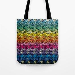 Escher Fish Rainbow Pattern Tote Bag