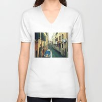 venice V-neck T-shirts featuring Venice by Mr and Mrs Quirynen