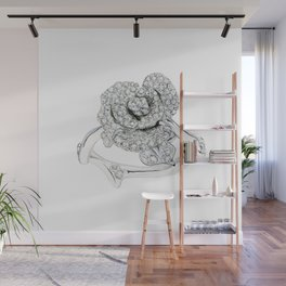 Silver Rose Ring Wall Mural