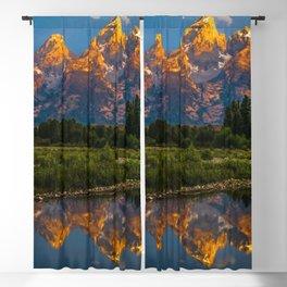 Grand Tetons Lake Reflections - Wyoming Blackout Curtain