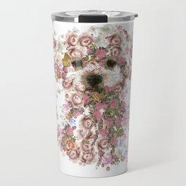 Vintage doggy Bichon frise.DISCOVER Travel Mug