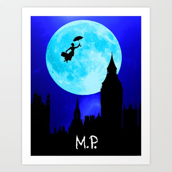 Poppins Terrestrial Art Print