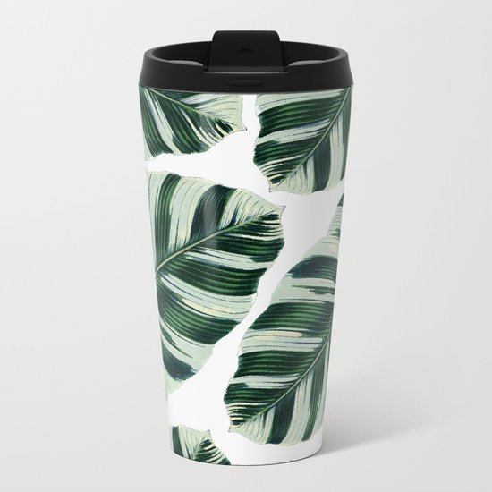 Tropical Foliage #society6 #buyart #decor Metal Travel Mug