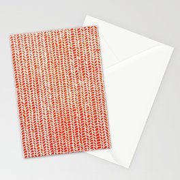 Stockinette Orange Stationery Cards