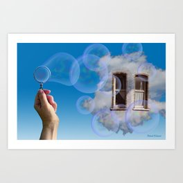 Forever Blowing Bubbles Art Print