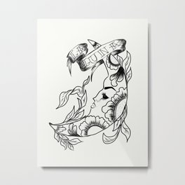 Line Luna Metal Print