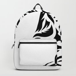 Tribal Cat Design (Lights) Backpack
