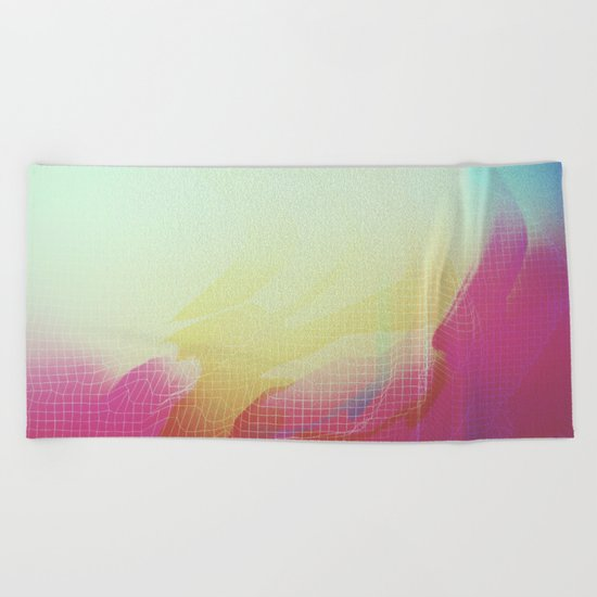 Glitch 16 Beach Towel