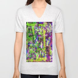 BOYFRIEND SWEATS(violet & lime) Unisex V-Neck
