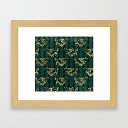 Emerald Green Oriental Dragon Framed Art Print