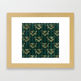 Emerald Green Oriental Dragon Framed Art Print