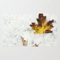 frozen Area & Throw Rugs featuring frozen by Bonnie Jakobsen-Martin