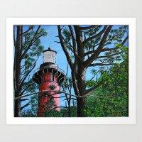 Currituck Light thru the Trees Art Print