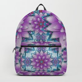 Pink- purple - turquoise Faux stitch pattern Backpack
