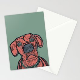 Mater the Boxer Mix Stationery Cards