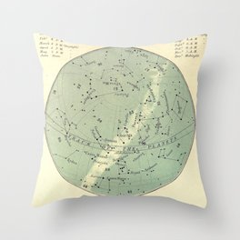 Experiment 06: December Sky Throw Pillow