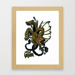 King Ghidora Kaiju Print FC Framed Art Print