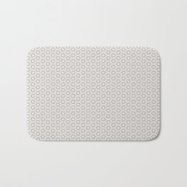 Hexagon Light Gray Pattern Bath Mat