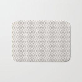 Hexagon Light Gray Pattern Bath Mat