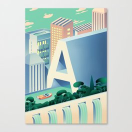 utopi-A Canvas Print