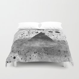 Triangle Composition III Duvet Cover