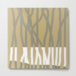 Forest of Gold Metal Print