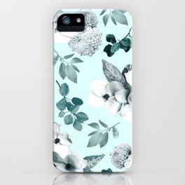 Night bloom - moonlit mint iPhone Case